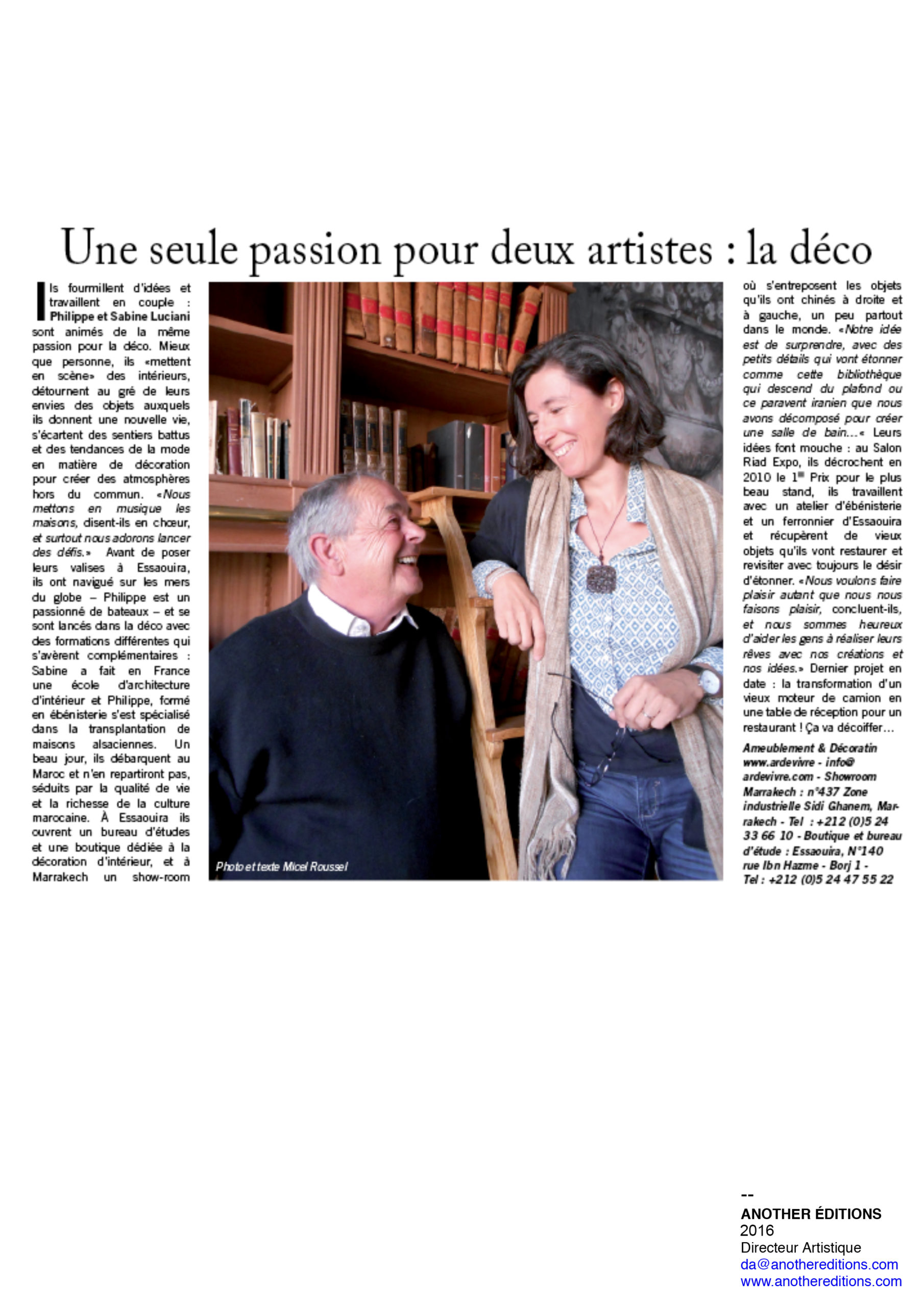 Article Presse Sabine Luciani