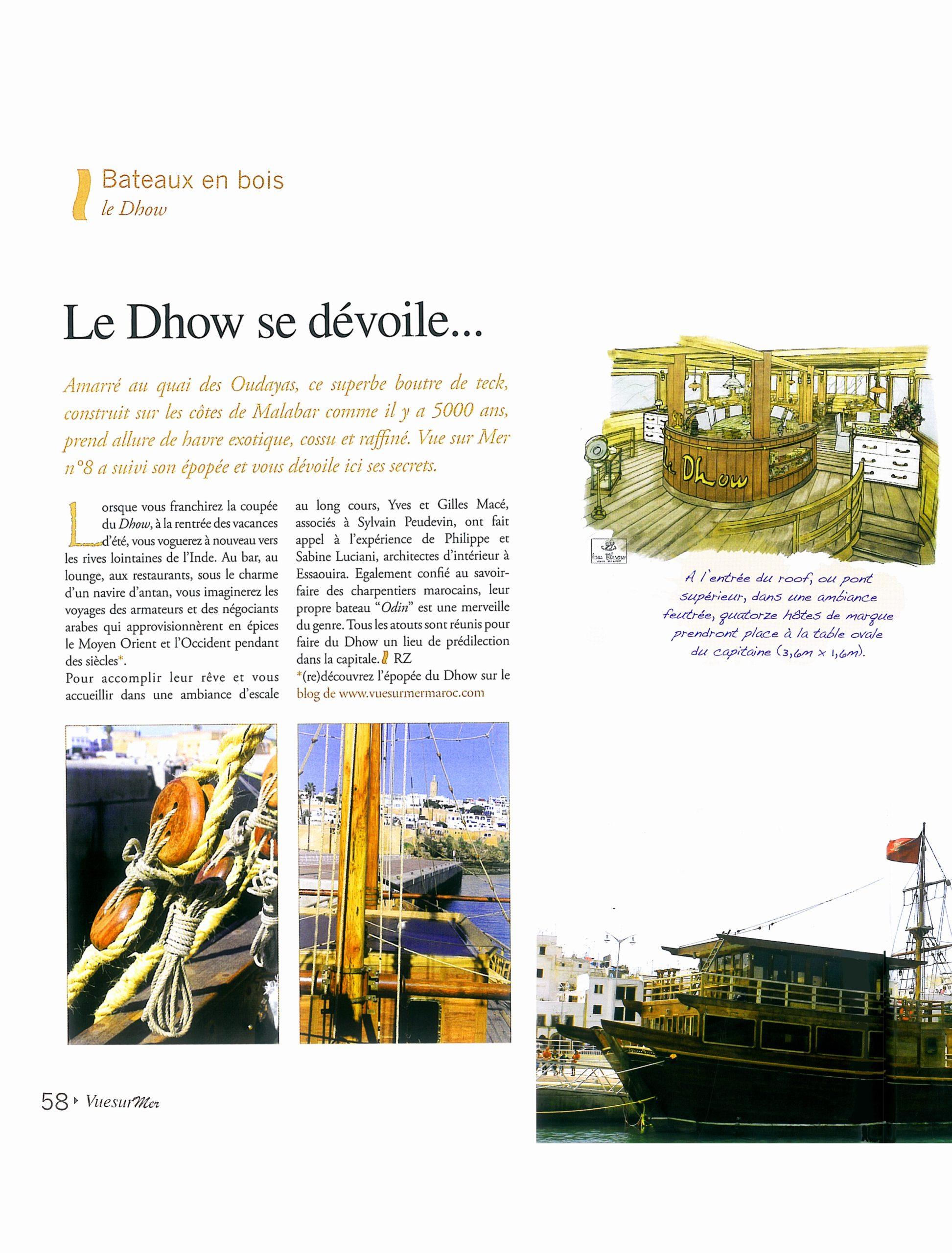 Article vue sur mer le dhow - P1