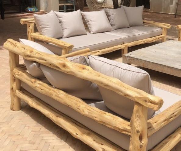 Canapé extérieur bois sur mesure