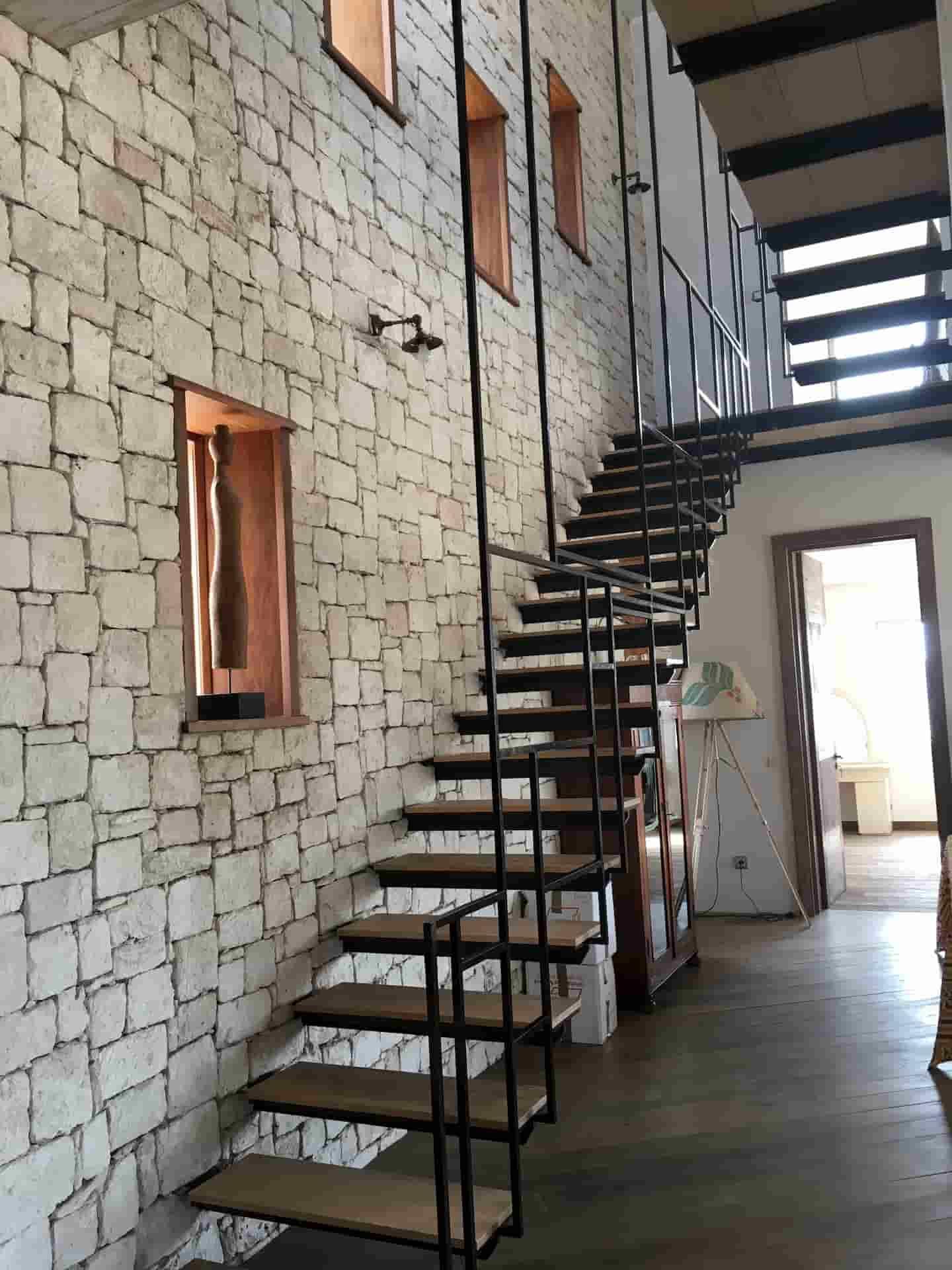 Escalier design industriel Maroc