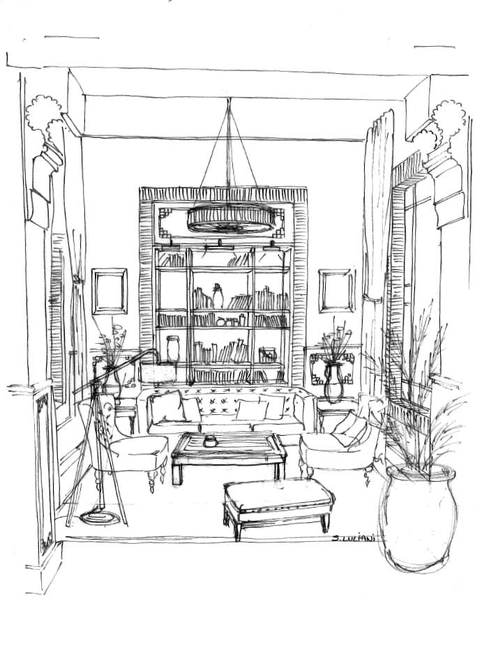 Illustration intérieure salon