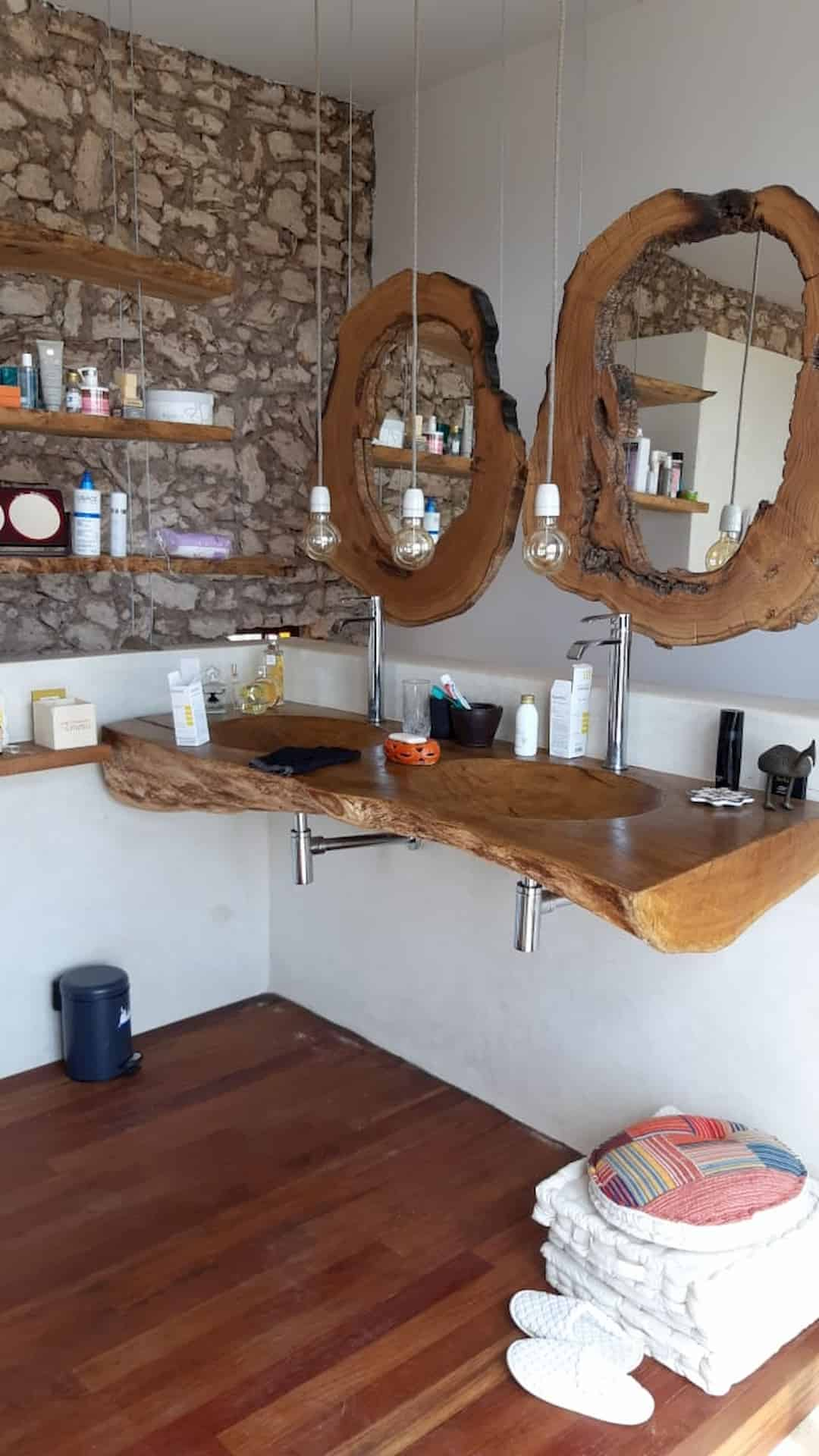 Mobilier salle de bain bois