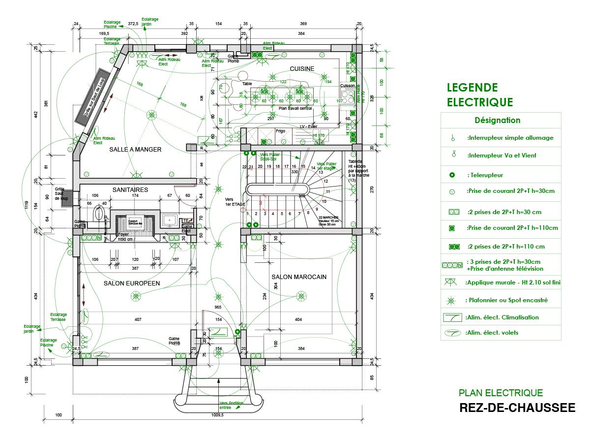 Plan electrique Villa
