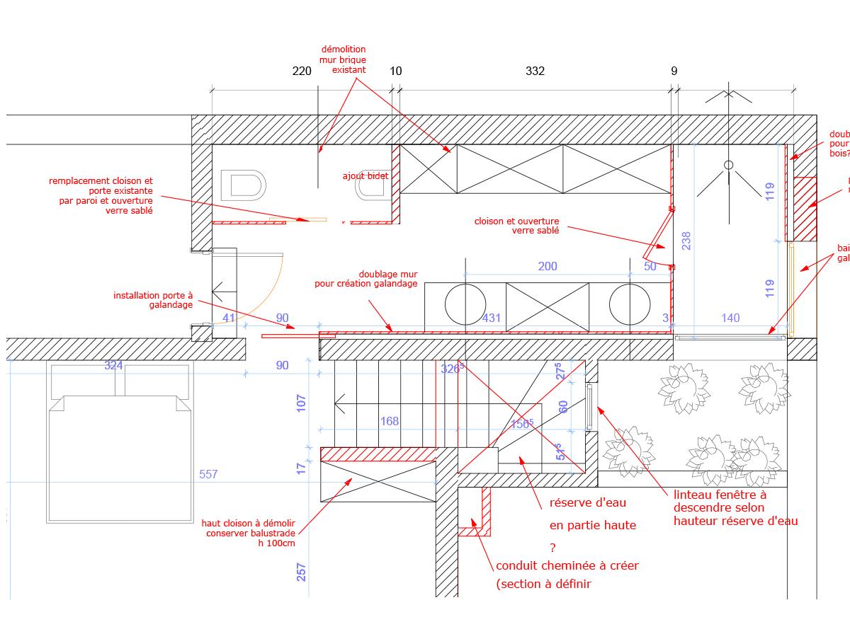 Plan salle de bain Villa