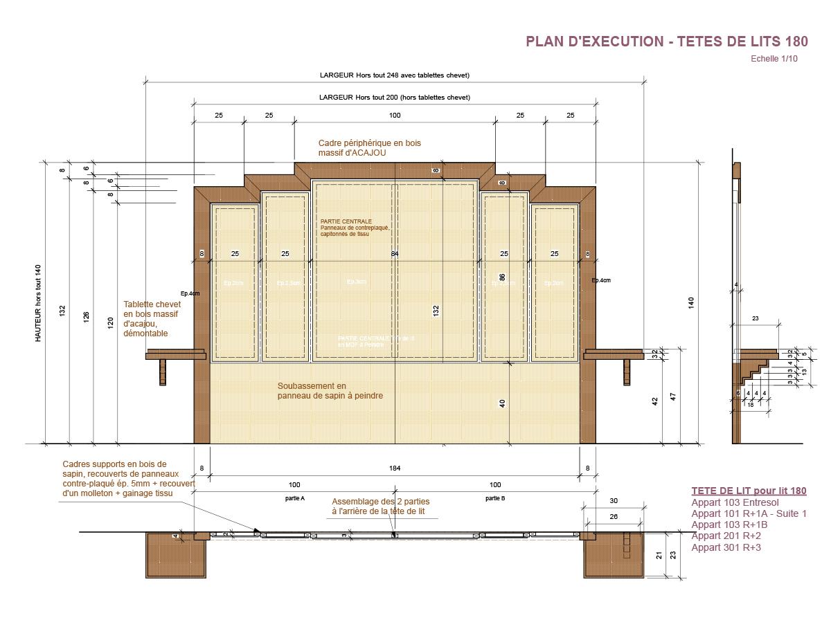 Plan têtes de lits en bois