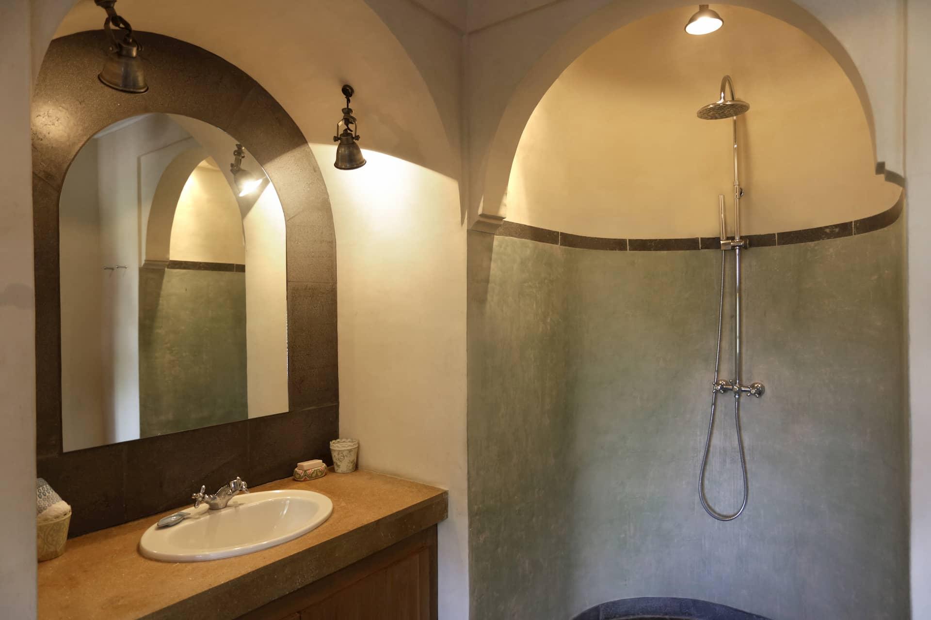 Salle de bain Riad Maroc